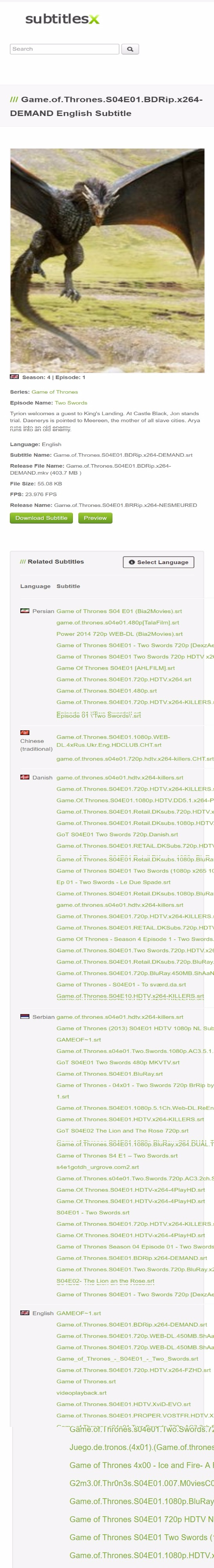 Game of Thrones - Histories and Lore - Season 1 Complete ...